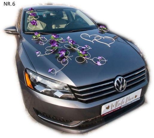 Dekoracja samochodu ozdoba na auto do ślubu NR.6-DOWOLNY KOLOR