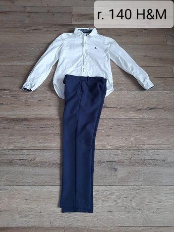 Koszula i spodnie eleganckie H&M! Rozm. 140! Jak NOWE!