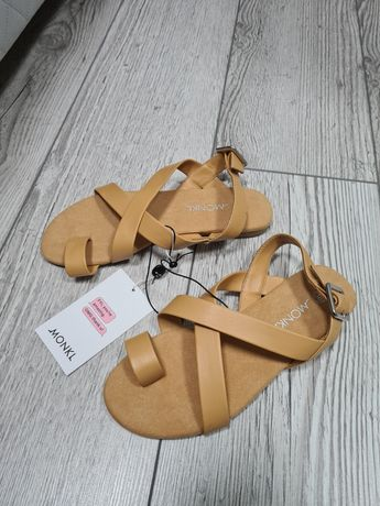 Monki sandały na płaskim obcasie damskie Cissi 36 nowe