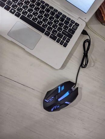 Мышка компьютерная игровая с подсветкой клавиатура юсб ргб USB RGB