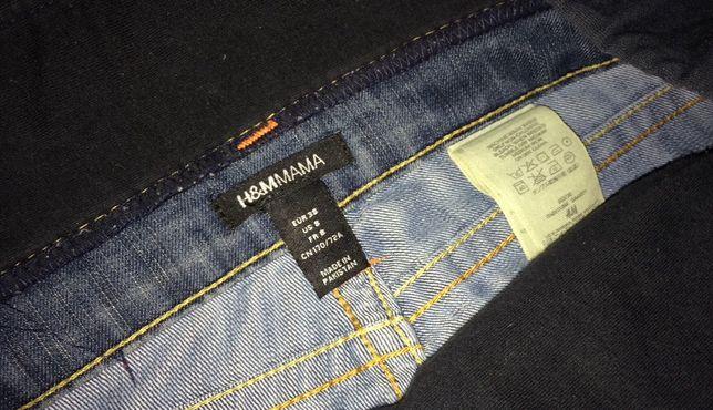 H&M MAMA 38 jeansy ciążowe proste M