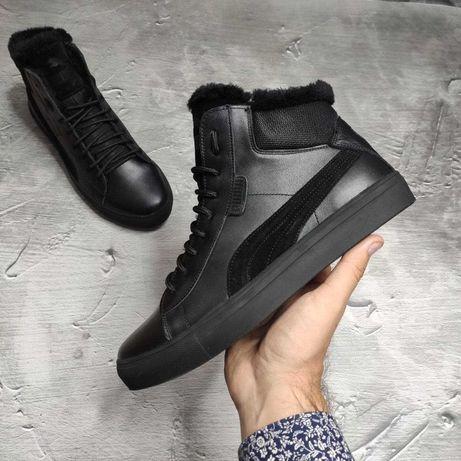 Зимние мужские ботинки puma из высококачественной натуральной кожи