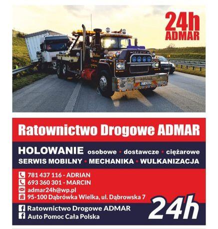 Transport do 13 ton , laweta , TIR , pomoc drogowa