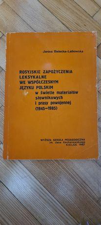 Rosyjskie zapożyczenia leksykalne we współczesnym języku polskim 1987