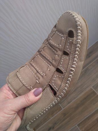 Кожаные подростковые сандалии