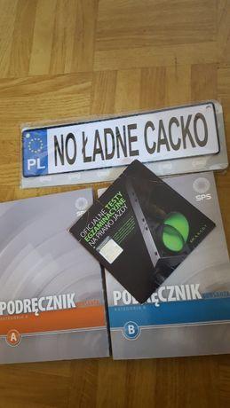2 książki prawo jazdy kat. B i A (+ płyta ) mała tablica