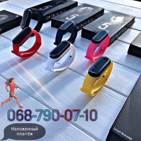 Фитнес трекер M5 band, браслет, часы! Магнитная Зарядка. Наложка !