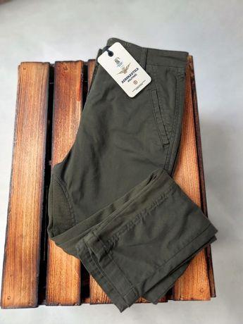 AERONAUTICA MILITARE spodnie ciemnozielone 36 za 280 zamiast 594 zł