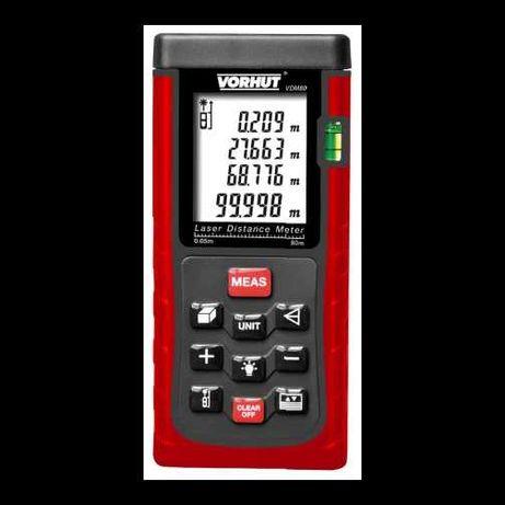 Лазерный дальномер VDM-80, 0,05-80м +/-2мм, 7-функций Vorhut   34-218