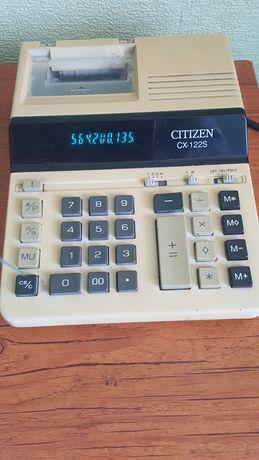 Калькулятор с печатью Citizen CX -122S