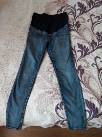 Zestaw spodnie jeansy ciążowe H&M roz 40 + koszula do karmienia porodu