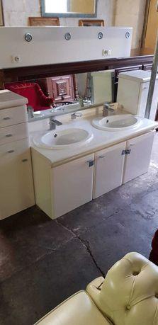 łazienka meble umywalka kran lustro szafka firmowa podwójna szafki boc