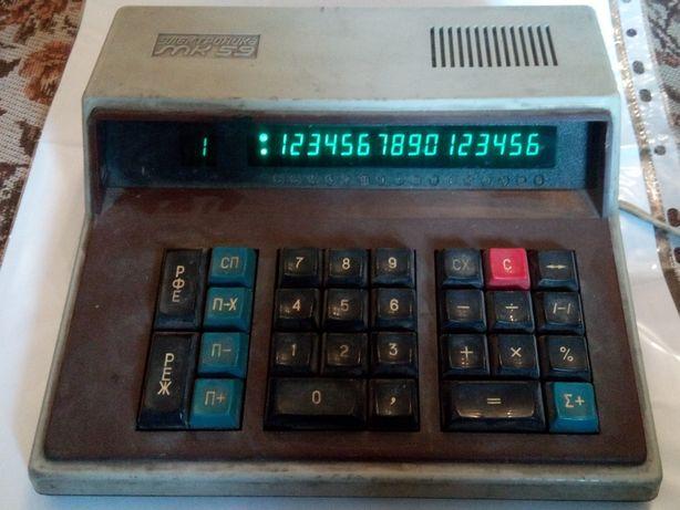 Калькулятор бугалтерский ЭЛЕКТРОНИКА МК59 1991г рабочий СССР редкость