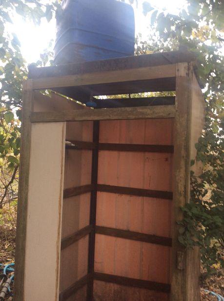Летний душ для дома, дачи, металический каркас + бак для воды
