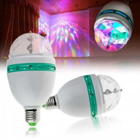 Светодиодная LED вращающаясядиско лампа-проектор (E27) - за 5 шт.