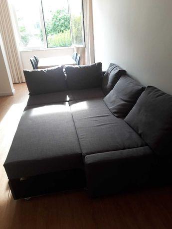 Sofá-cama cinzento IKEA