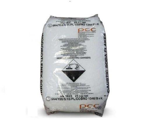 Cena z wysyłką - Soda Kaustyczna płatkowana 25 kg