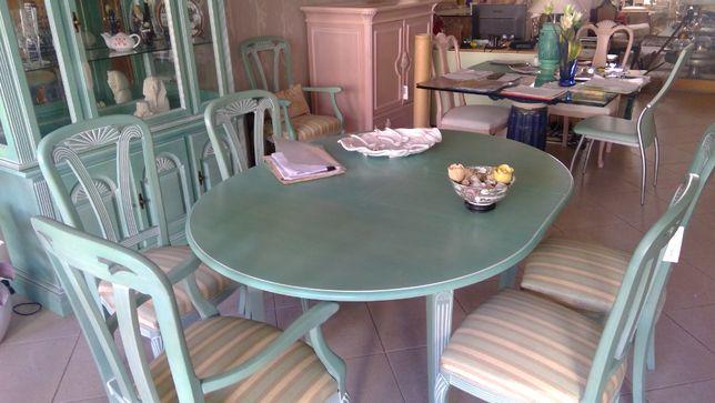 Móvel Italiano sala de jantar Novo mesa cadeiras cristaleira