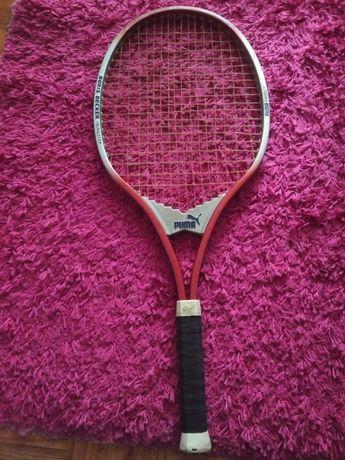 Raquete de tenis antiga Boris Becker Puma / Western Germany