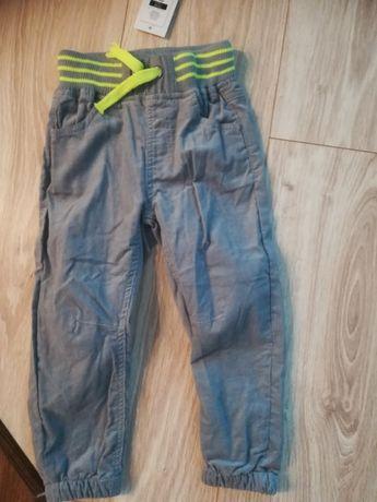 Nowe spodnie sztruksy, Cool Club rozmiar 92