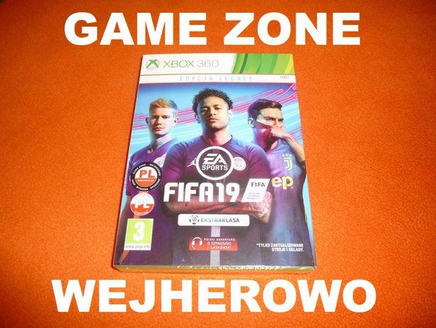 Fifa 19 Xbox 360 + Slim + E = PŁYTA PL = Wejherowo = NOWA ZAFOLIOWANA