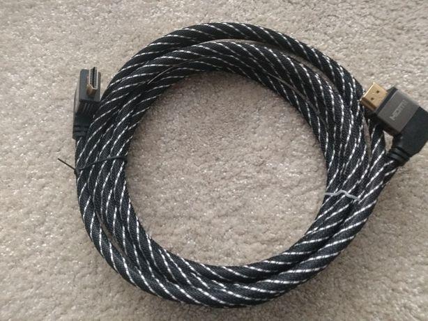 Kabel HDMI-HDMI kątowy przewód 3 m