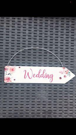 Sprzedam drogowskaz Wedding nowy