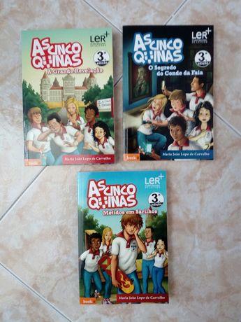 Livros coleção As Cinco Quinas