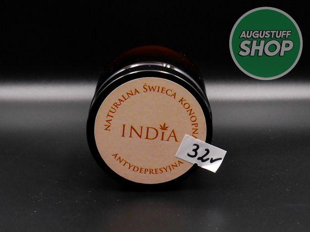CBD Świeca konopna INDIA antydepresyjna 90g