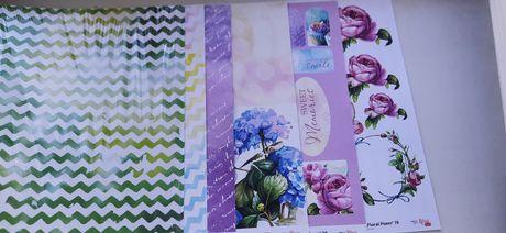 Двусторонняя бумага для скрапбукинга Роса rosa Floral poem