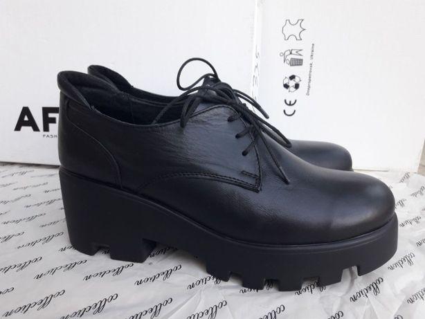 Туфли Ботильоны Ботинки кожаные размер 40