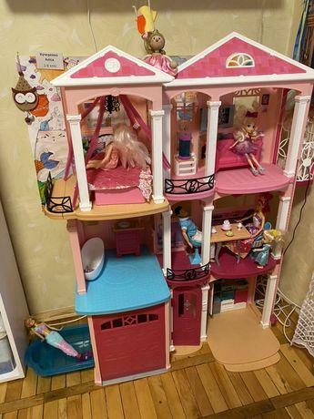Кукольный домик «Barbie Dreamhouse Барби Дом мечты Малибу 3-х»