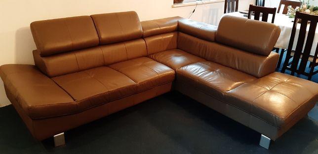 Skórzany narożnik sofa kanapa ze skóry