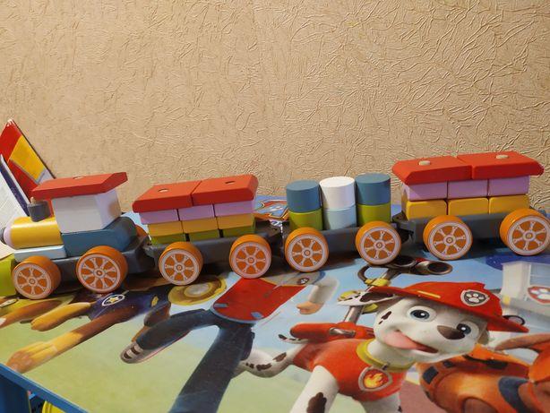 Сортер  деревянный Поезд LP-1 Cubika 38 деталей