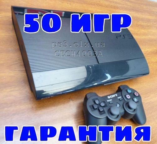 PS3 Super Slim 500ГБ Модель CECH4003A 42 игры playstation 3 гарантия