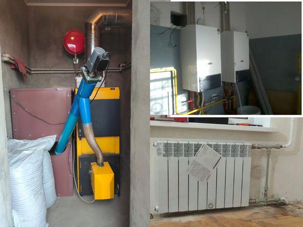 Отопление, сантехника, котлы, теплые полы - монтаж, установка, услуги