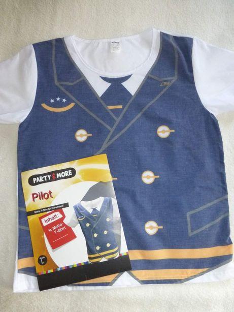 Карнавальная футболка пилота, для Парти,вечеринки,к Елке. М