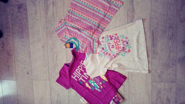 NOWE Bawelniane koszulki dziewczece 110-116