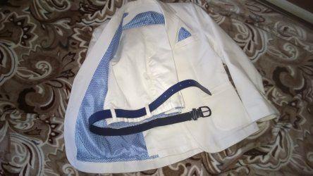 Костюм нарядный модный белый 6 , 7 лет 122 - 128 рост LC Waikiki