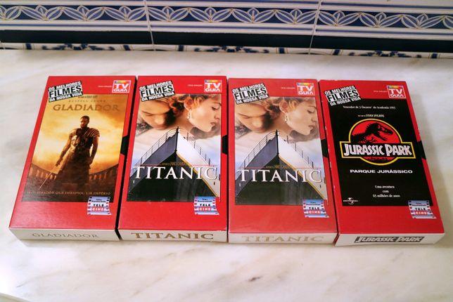 """Cassetes VHS Coleção """"Os Melhores Filmes da Nossa Vida"""" da TV Guia"""