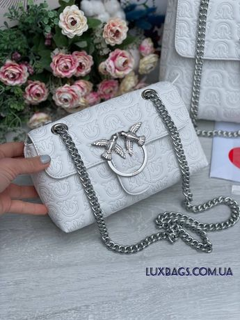 Женская шикарная белая сумка Pinko Пинко