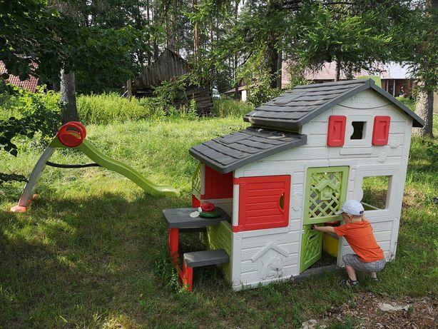 Domek dla dzieci Smoby Neo Friends ogrodowy kuchnia stolik zjeżdżalnia