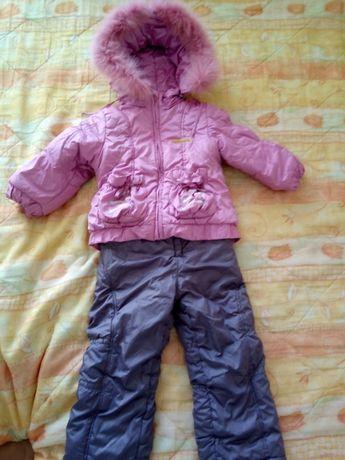 Зимовий комбез на дівчинку 2-3 роки+шапочка в подарунок