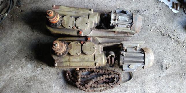Редуктор хода погрузчик Р6-КШП-6 (левый, правый) с мотором и цепями