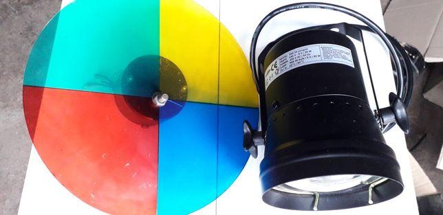 Прожектор с вращающимся цветным диском