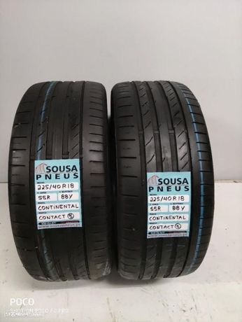 2 pneus semi novos 225-40-18 Continental - Oferta dos Portes