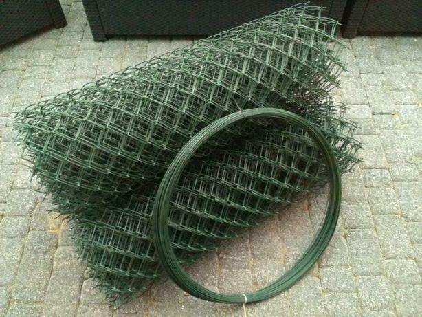 Siatka 100cm. 1m 55x55 powlekana PCV zielona 2/3,2