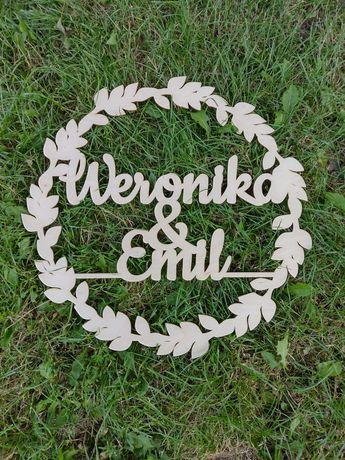 Koło z imionami 50cm Weronika & Emil