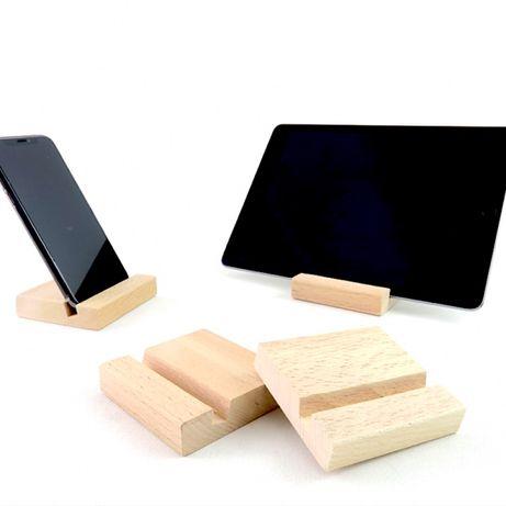 Дерев'яна підставка для телефона, планшета на стіл