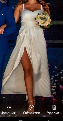 Платье свадебное шёлк,  платье вечернее шелк